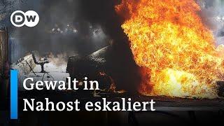 Raketen und Luftangriffe im Konflikt zwischen Israel und Palästinensern   DW Nachrichten