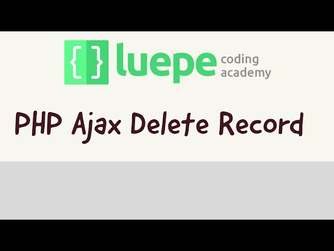 Delete Record by using php and jquery ajax