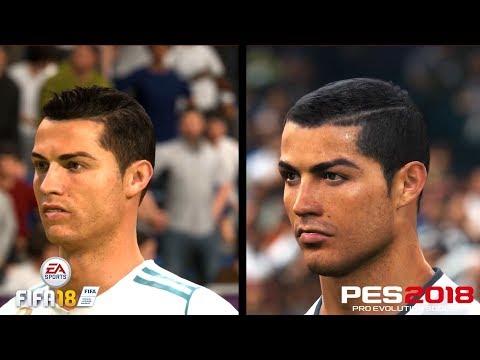 ЛИЦА ИГРОКОВ РЕАЛА FIFA 18 VS PES 18