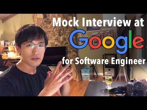 Mock Google interview (for Software Engineer job) - coding &