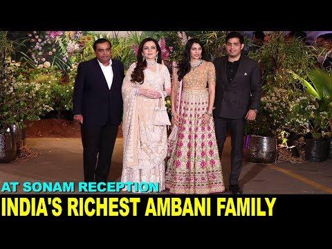 India's Richest Mukesh Ambani Family at Sonam Kapoor Reception