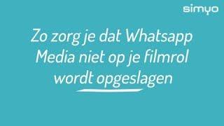 Zo zorg je dat Whatsapp geen media op je filmrol opslaat