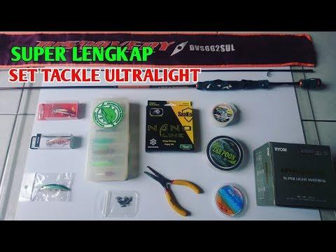 Set Tackle Ultralight Fishing UL Super Lengkap