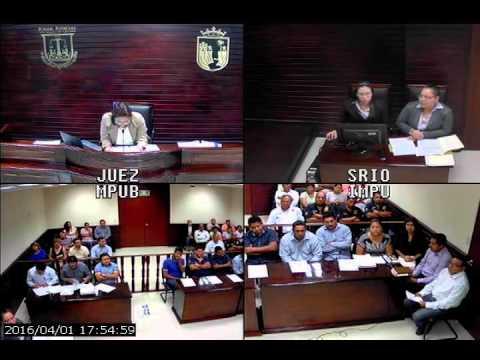 Audiencia Inicial en el Nuevo Sistema de Justicia Penal en Chiapas Control de detención, formulacion