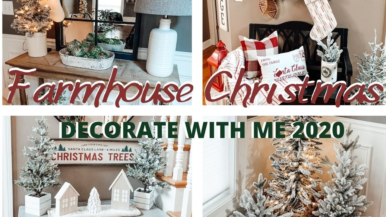 Cozy Farmhouse Christmas Decorate With Me 2020 Cozy Rustic Entryway And Dining Room Decor Ideas Youtube
