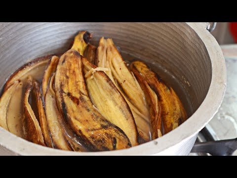 DON'T THROW the BANANA PEEL! DO THIS DELICIOUS BANANA PEEL RECIPE! Cheap, Quick and Easy!