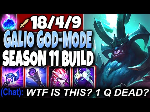 ONE-SHOT ALL with our New Galio Season 11 God-Mode Full Pen Build 🔥 LoL Galio Preseason s11 Gameplay