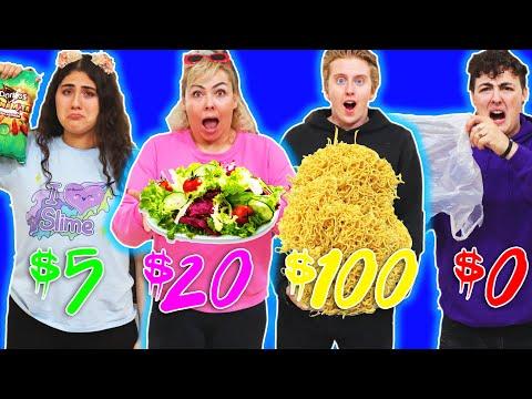 $5 VS $1000 SURVIVE ON A FOOD BUDGET CHALLENGE!