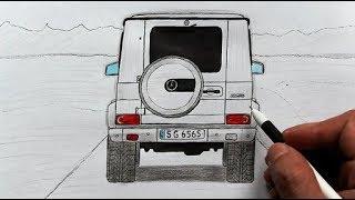 Как нарисовать машину Гелендваген - Mercedes Benz G-class