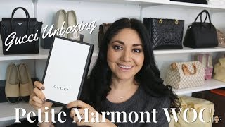 Gucci Unboxing   Petite Marmont WOC   Minks4All