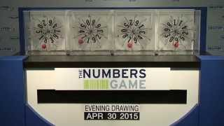 Evening Numbers Game Drawing: Thursday, April 30, 2015