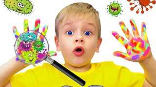 Wash Your Hands Song   A song about healthy habits for kids from Dima Family Show