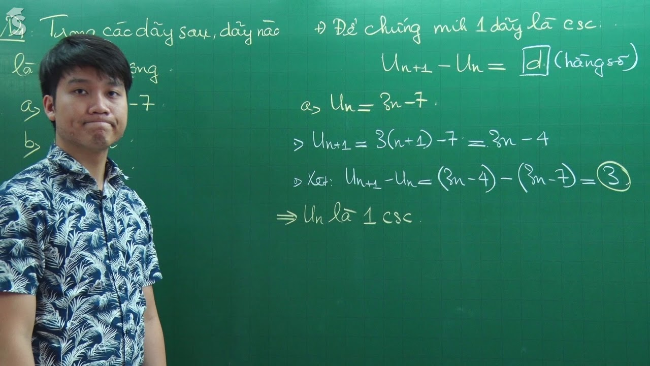 Cấp số cộng – Môn Toán lớp 11 – Thầy Nguyễn Quốc Chí