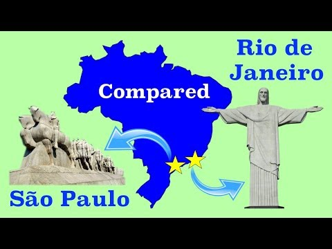 São Paulo and Rio de Janeiro Compared