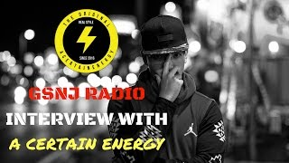 GSNJ Radio Interview of A Certain Energy | February 21, 2017