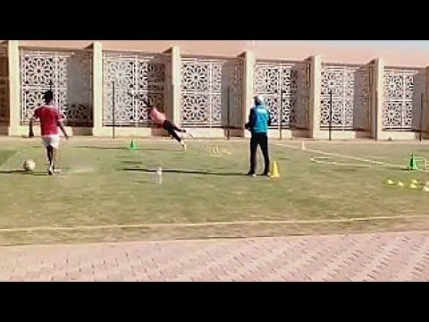 Today's training  positioning of the goalkeeper from western Sahara 2020