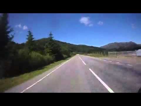 Achnasheen to Gairloch Scotland, via the A832 on a BMW R1200RT motocycle