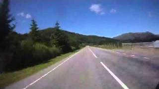 Achnasheen to Gairloch Scotland, via the A832 on a BMW R1200RT motocycle