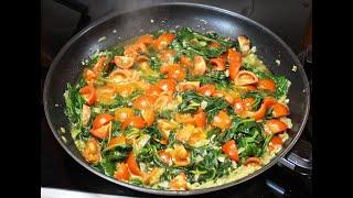 Шпинат с помидорами по итальянски. Полезнейший и вкусный рецепт. Spinach with tomatoes.