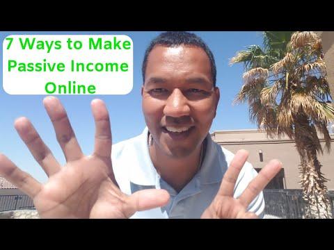 Seven Ways to Make Passive Income Online