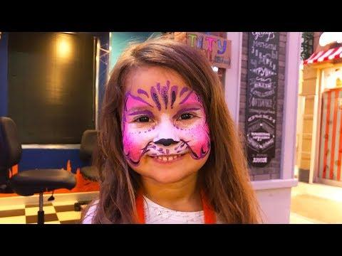 Видео: Аквагрим Кошечка для Селин. Москва - Детский развлекательный комплекс
