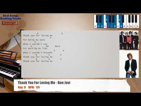 Thank You For Loving Me  Bon Jovi Piano Backing Track with chords and lyrics
