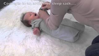 Video: Woombie Convertible Swaddle / Sleeping Bag 2in1 0-3 months