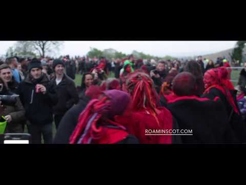 NUDITY WARNING - Edinburgh Wiccan Beltane Fire Festival 2017 PT02 - RED ARMY