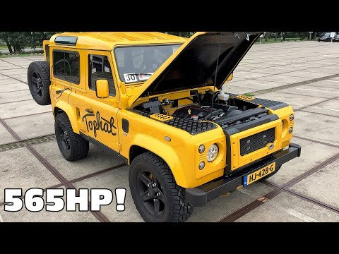 Tophat Defender 90 w/ Corvette 6.2 V8 LS3 Engine Exhaust Sounds!