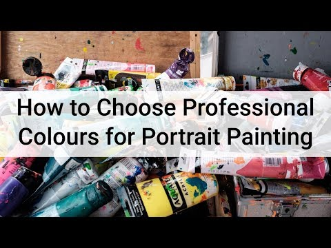 How to Choose Your Palette for Painting Portraits in Acrylics