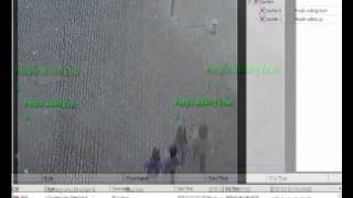 GXi Video Analytic demonstration - people counting