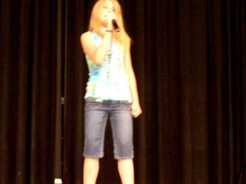 Chloe Miley Cyrus The Climb cover karaoke Talent Show 2009