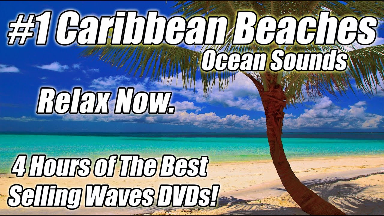 Tropical Island Beach Ambience Sound: WAVE SOUNDS Ocean Waves Relaxation SLEEP Video Relaxing