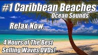 """WAVE SOUNDS"" Ocean Waves Relaxation Video Relaxing Best Beach Relax 4 HOURS CARIBBEAN BEACHES DVD"