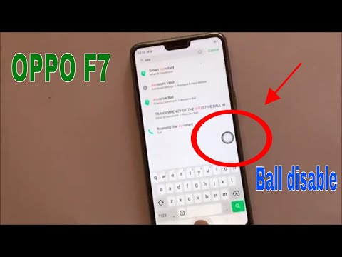 How To Enable And Disable Assistive Touch Ball On Oppo F7 Mobile