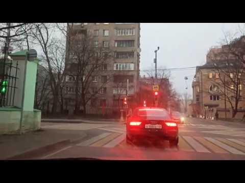 . Москва 4K. Район Арбат. Автопрогулка. 19 ноября 2019 г.