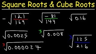 Square Roots and Cขbe Roots