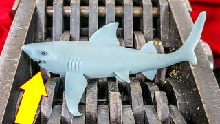 shredding a shark squishy toys get shredded what s inside