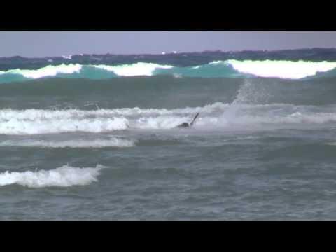 Post-Sandy Kitesurfing Wipeouts - Nassau Bahamas