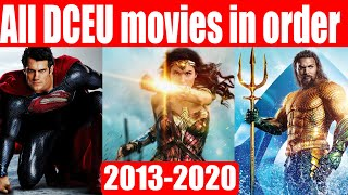 All DCEU movies in order (2013-2020)