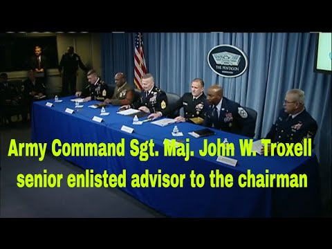 Army Command Sgt. Maj. John W. Troxell, senior enlisted advisor to the chairman