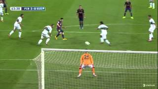 Leo messi second goal - barcelona vs elche 2014/2015