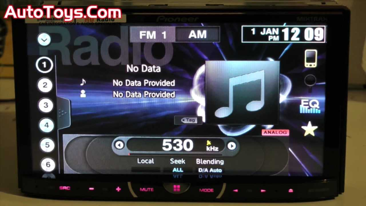 Pioneer AVH-X5500BT Car Multimedia Driver PC