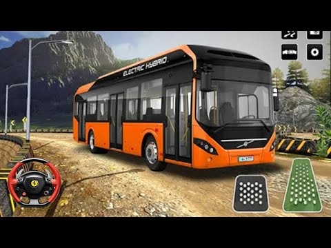 Hill Coach Bus Driver Game । OffRoad Transit Bus Simulator । Android Gameplay |