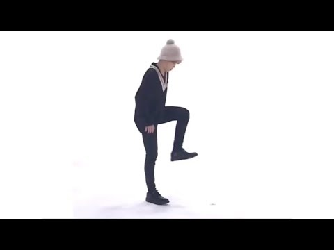 BTS Jimin doing the Invisible Box Challenge