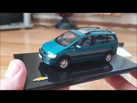 Unboxing Diecast Opel Zafira ,Chevrolet Zafira 2001 1;43 Scale Review.Автомодели.Обзор