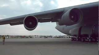 USAF C-5 Galaxy Take Off And Low Pass Flyby