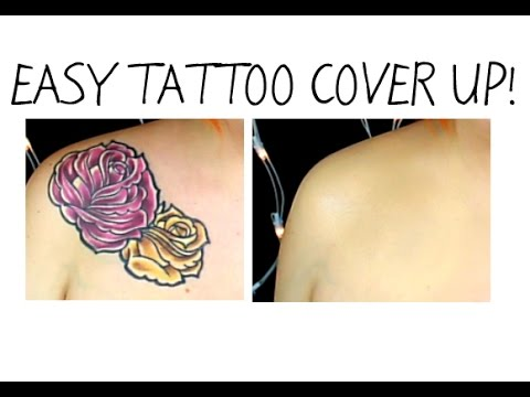Easy tattoo cover up makeup using pros aide youtube for How to cover a tattoo without makeup