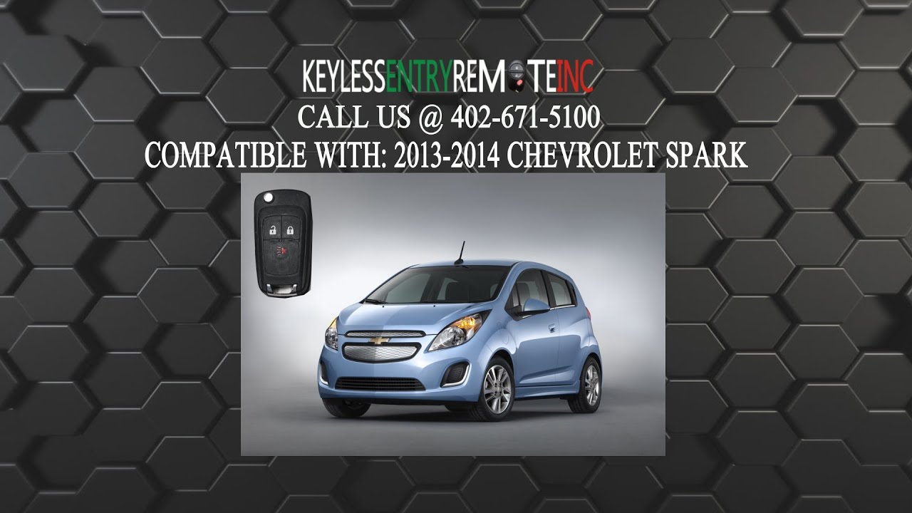 2014 chevrolet spark keyless entry remote key autos post. Black Bedroom Furniture Sets. Home Design Ideas
