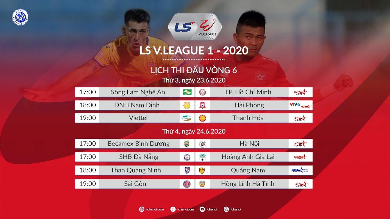 Lịch Thi đấu Vong 6 V League 2020 Bảng Xếp Hạng Vong 5 V League 2020 Youtube